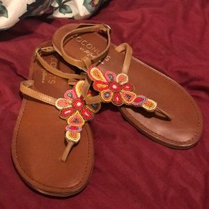 Coconuts by Matisse Beaded Sandals Sz 9